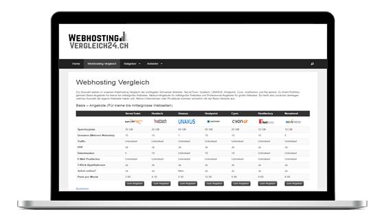 Webhosting Vergleich Schweiz